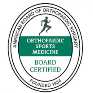 board certified orthopedic sports medicine doctors