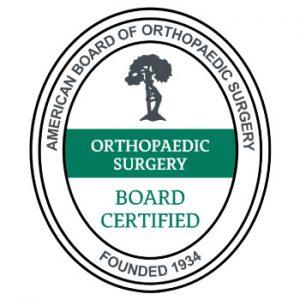 board certified orthopedic surgeons